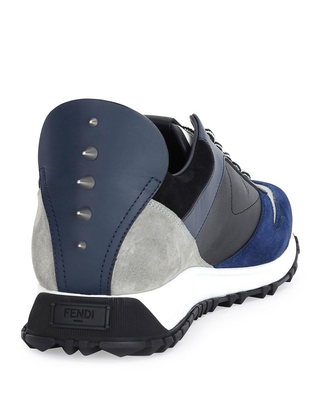 Fendi Monster Runner Spike-Back Leather