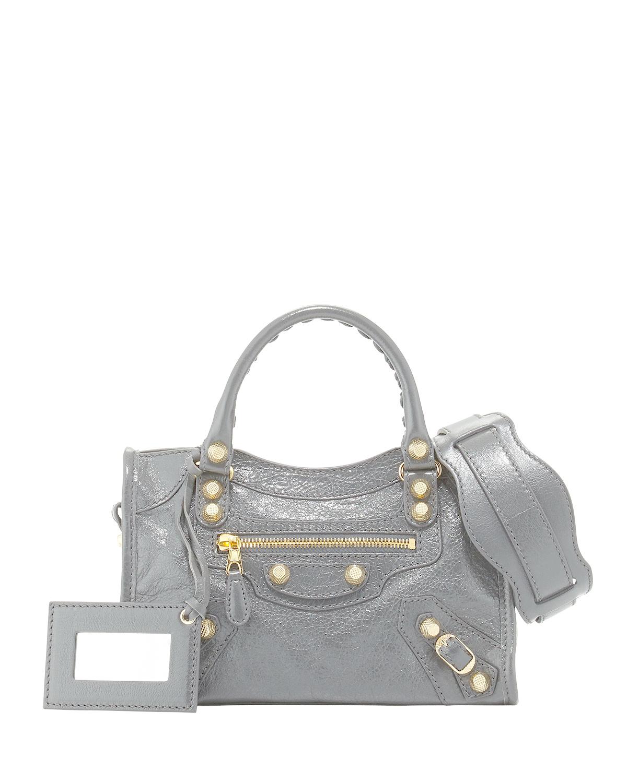 Balenciaga Giant 12 City Mini Lambskin Tote Bag In Gray Lyst