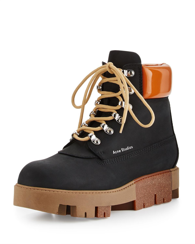 8c31f44b790 Acne Studios Multicolor Telde Calf Leather Hiker Boot