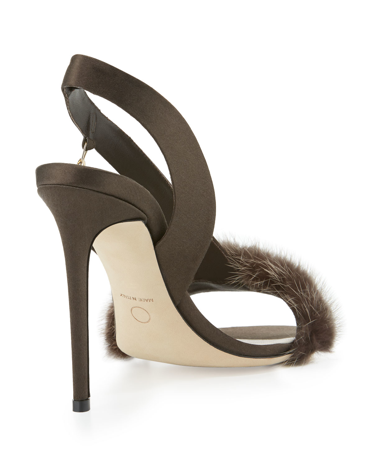 Olgana Paris L Amazone Mink Fur Sandal In Brown Lyst