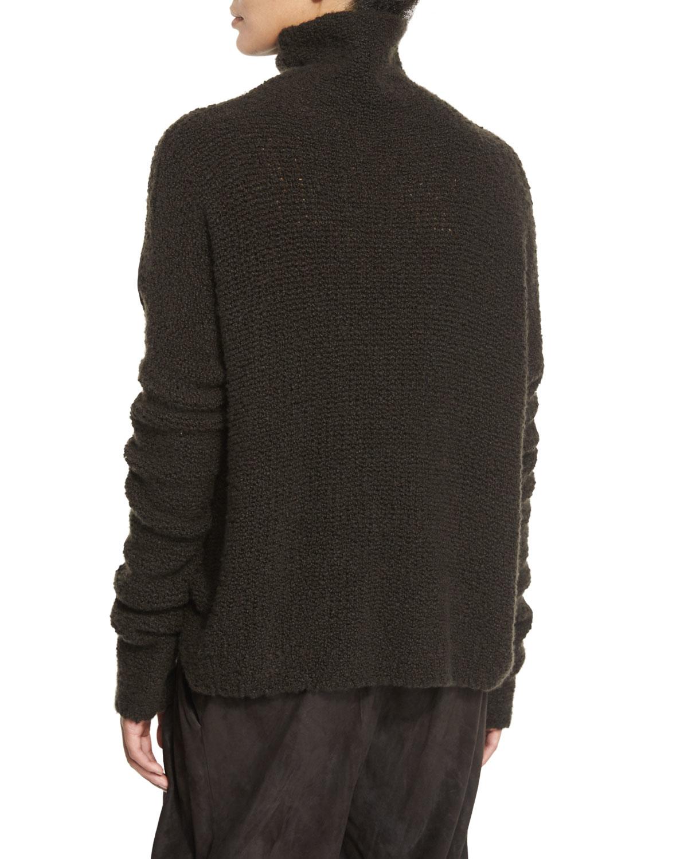 Zen Knitting Parker : Lyst urban zen knit cashmere blend turtleneck sweater in