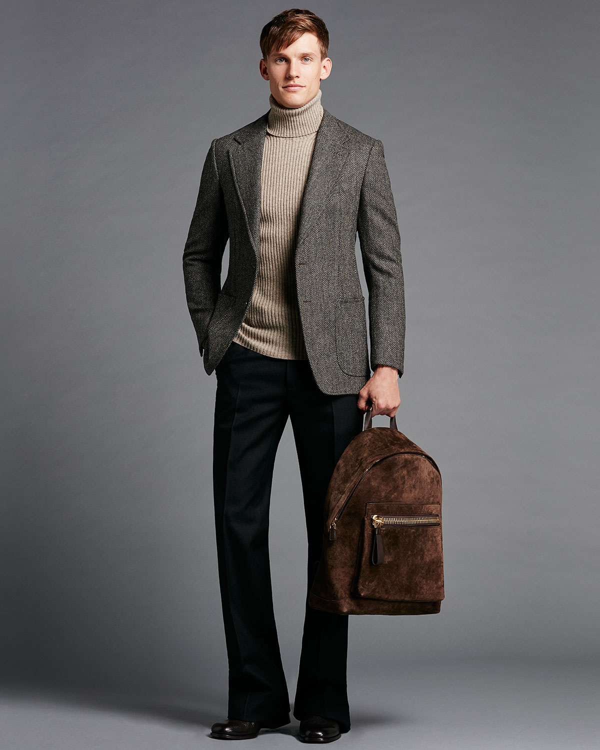 tom ford herringbone tweed two button jacket in brown for. Black Bedroom Furniture Sets. Home Design Ideas