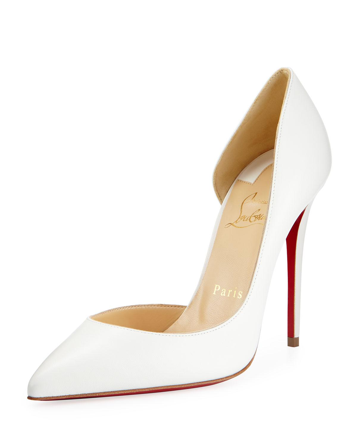 78e1b2628496 Lyst - Christian Louboutin Iriza Half-d orsay 100mm Red Sole Pump in ...