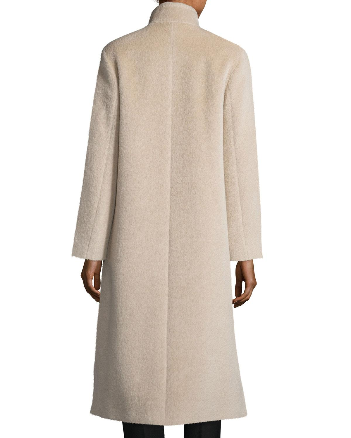 Cinzia Rocca Long A Line Coat In Natural Lyst