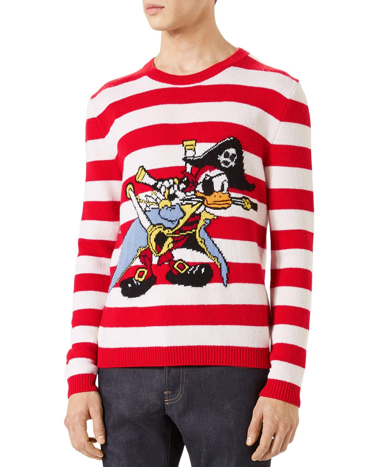 Lyst Gucci Intarsia Wool Sweater With Donald Duck Pirate