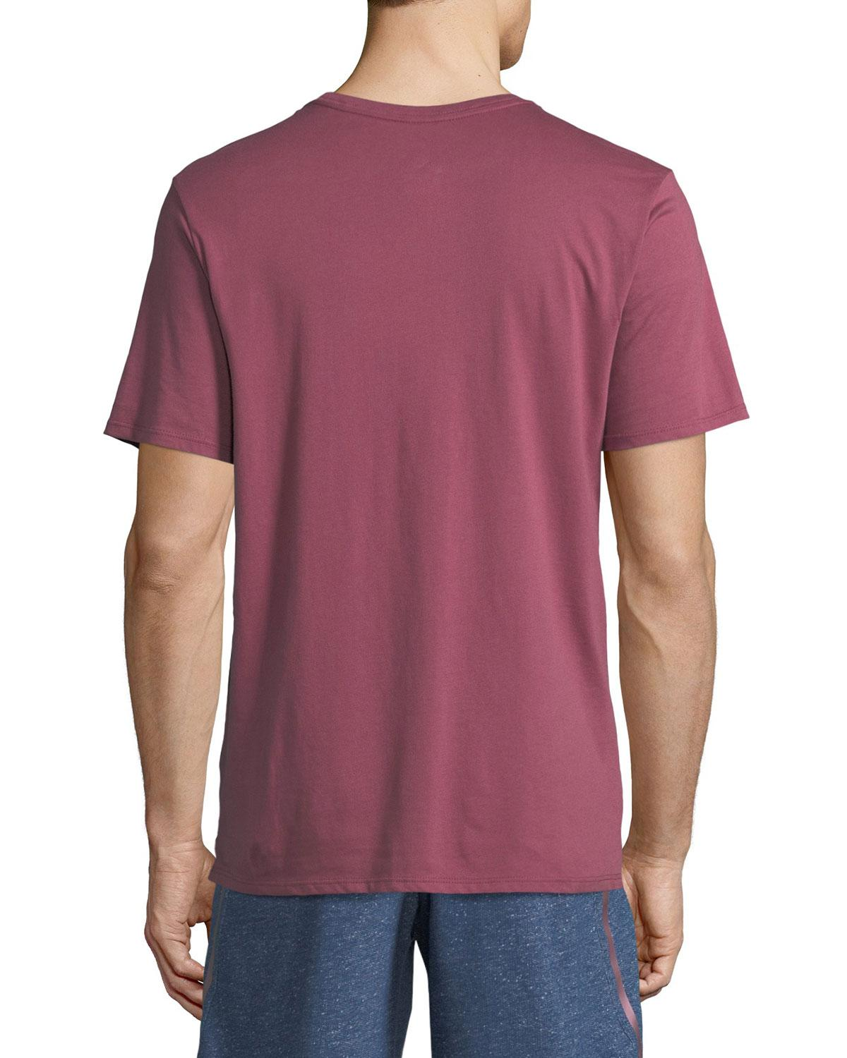 Lyst nike x pigalle logo cotton jersey t shirt in purple for Lands end logo shirts