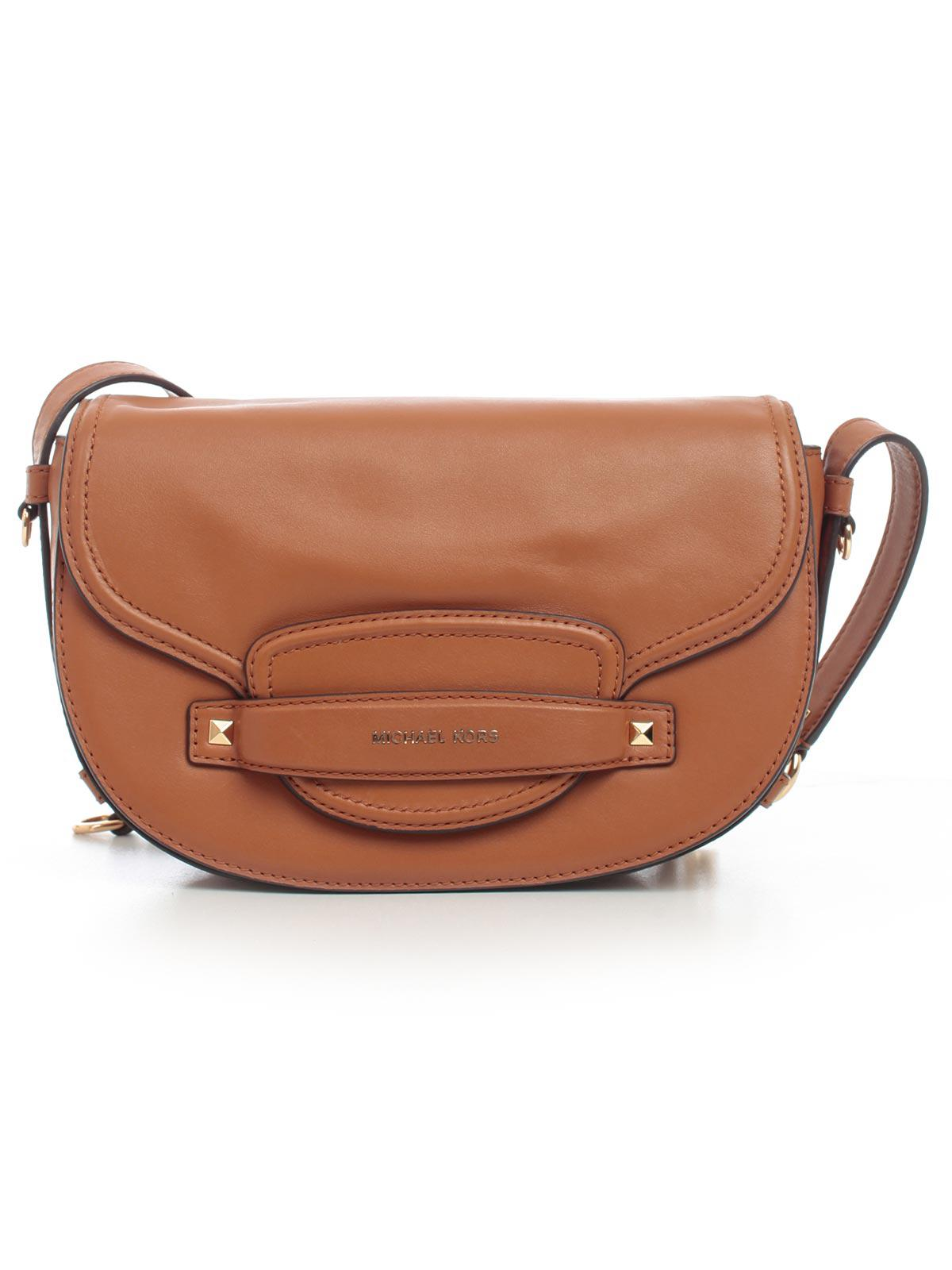 5c42f62852e8 Michael Michael Kors Cary Md Saddle Bag in Brown - Lyst