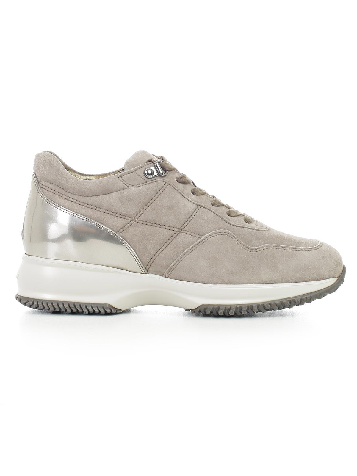Sneakers H302 suede grey beige perforated logo Hogan In China Clfc962a0