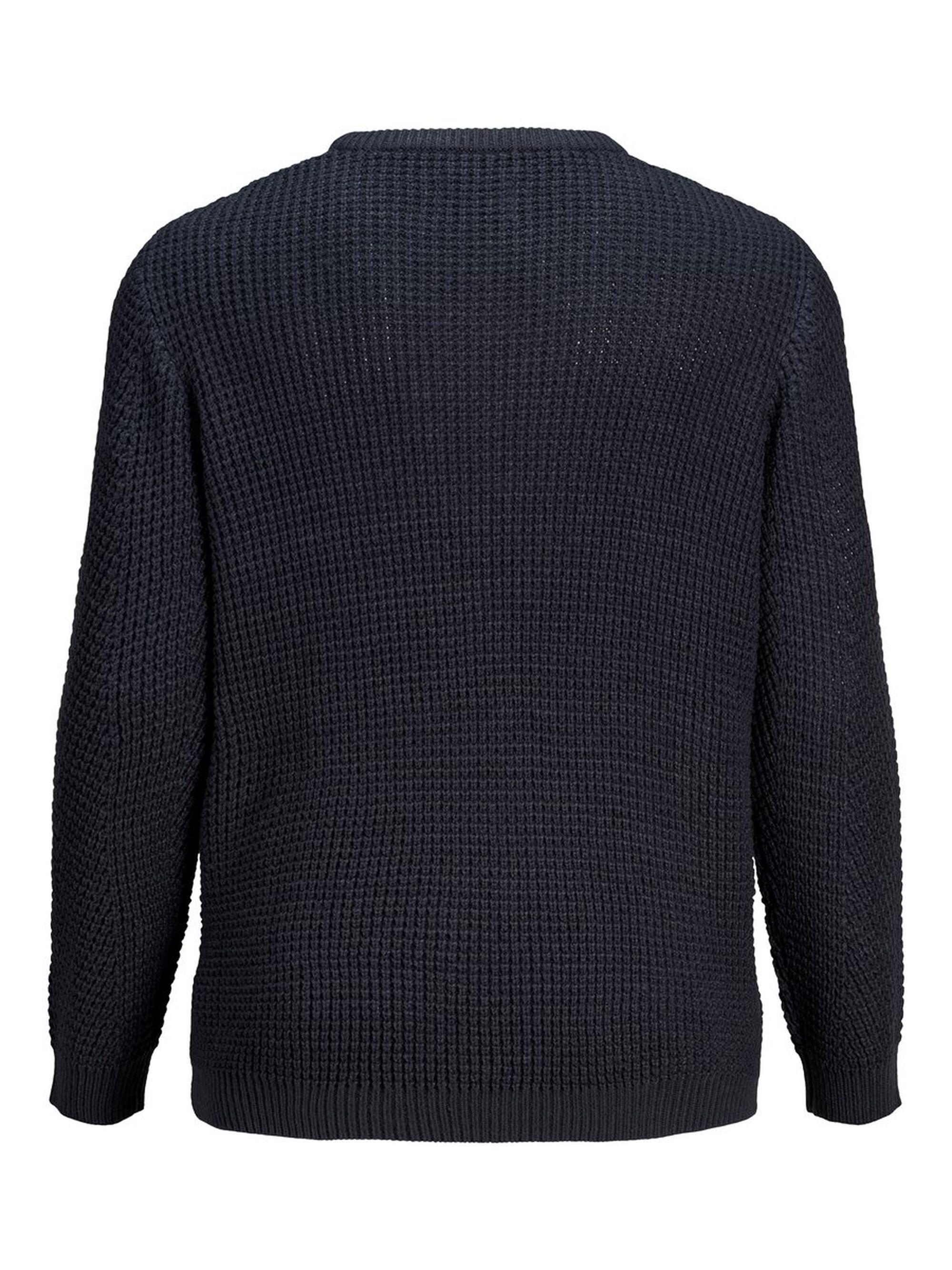 Jack & Jones Gestructureerde Plus Size Pullover in het Zwart voor heren