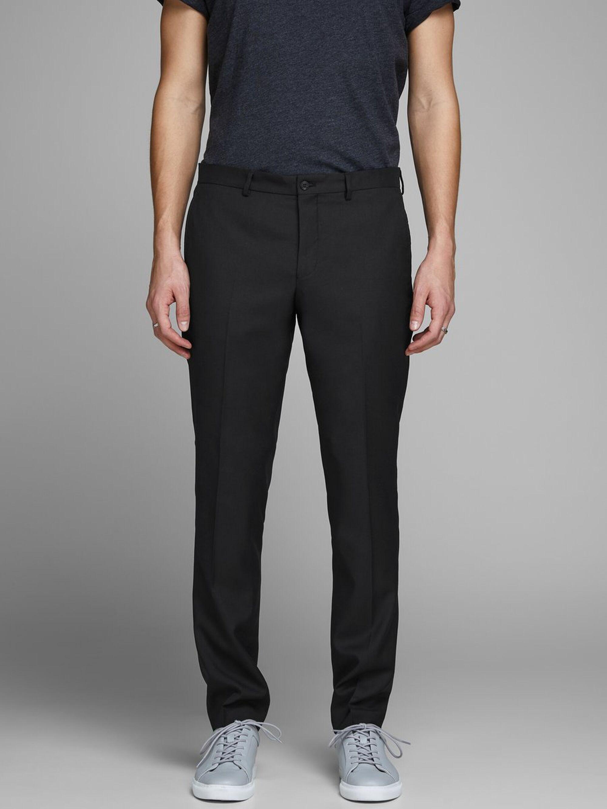 Jack & Jones Slim Fit Pantalon in het Zwart voor heren