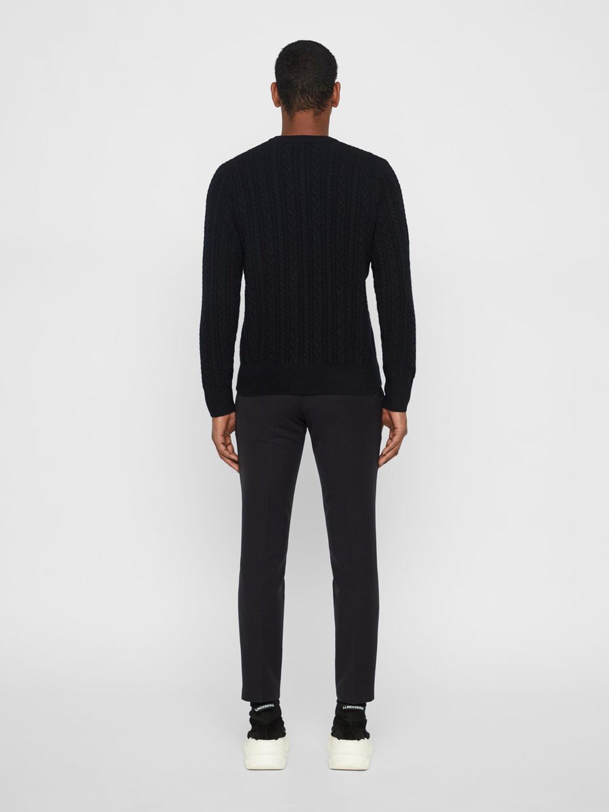 J.Lindeberg Gregor Zachte Sweater in het Zwart voor heren
