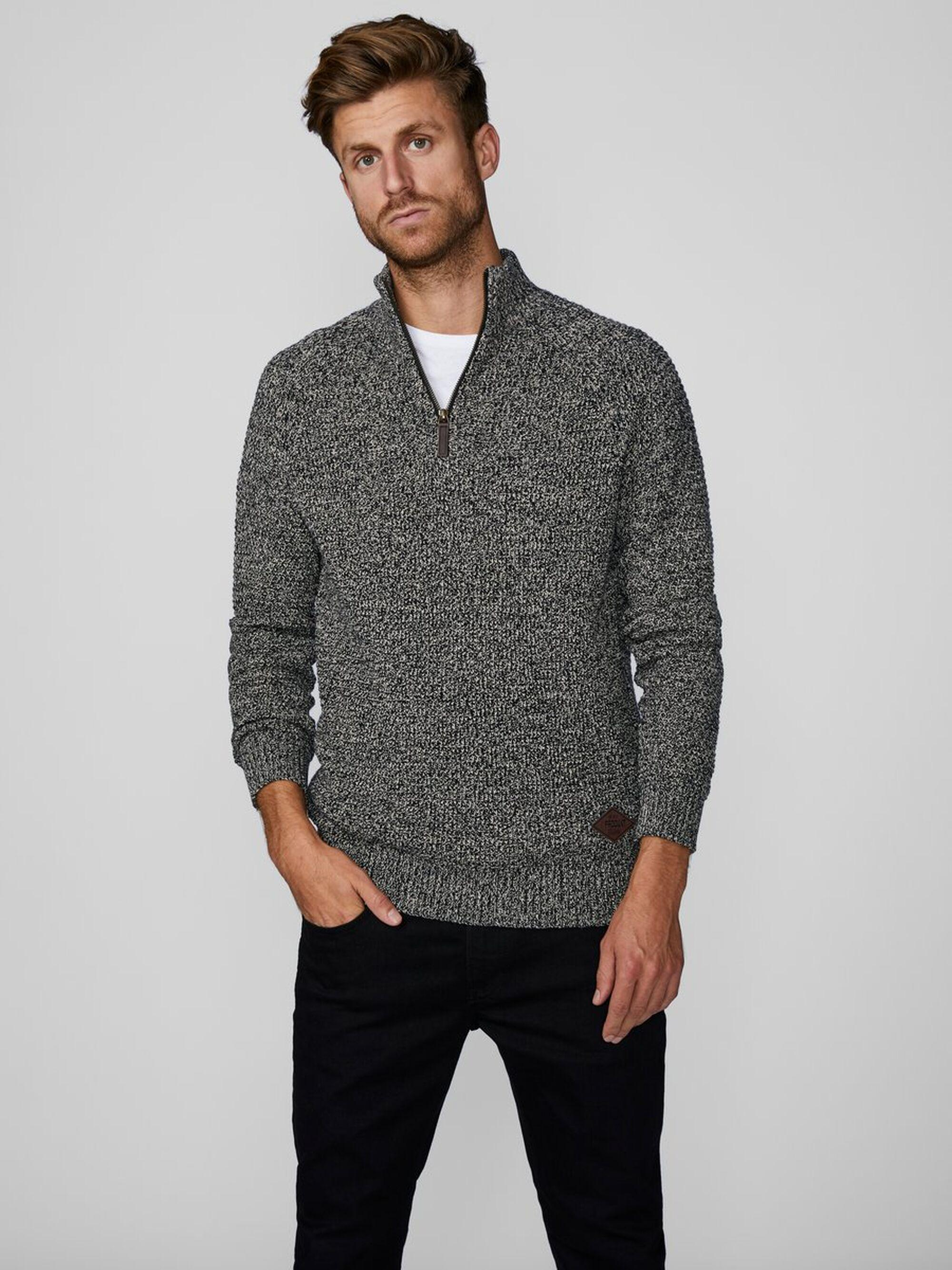 Produkt High-neck Sweater in het Grijs voor heren