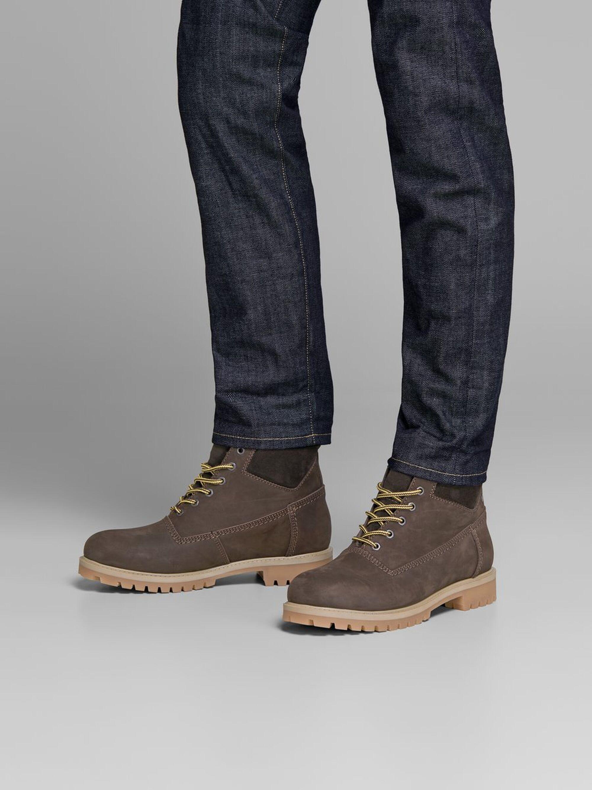 Jack & Jones Nu 20% Korting: Nubuck Laarzen in het Bruin voor heren