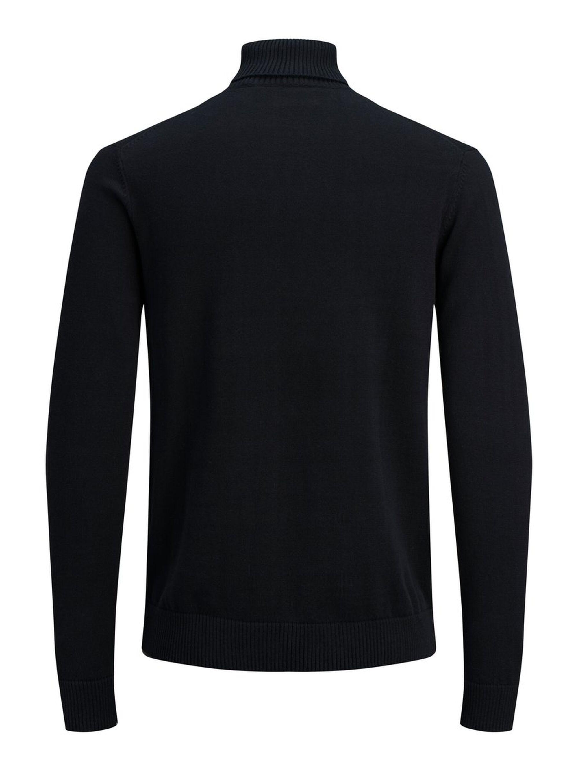 Produkt Roll-neck Sweater in het Zwart voor heren