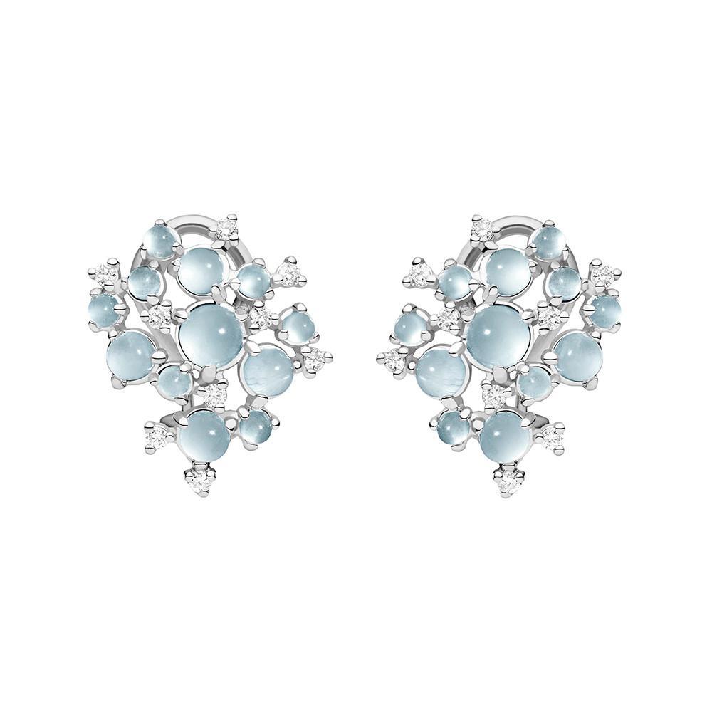 Paul Morelli Bubble Moonstone & Diamond Clip-On Earrings tVcRq4