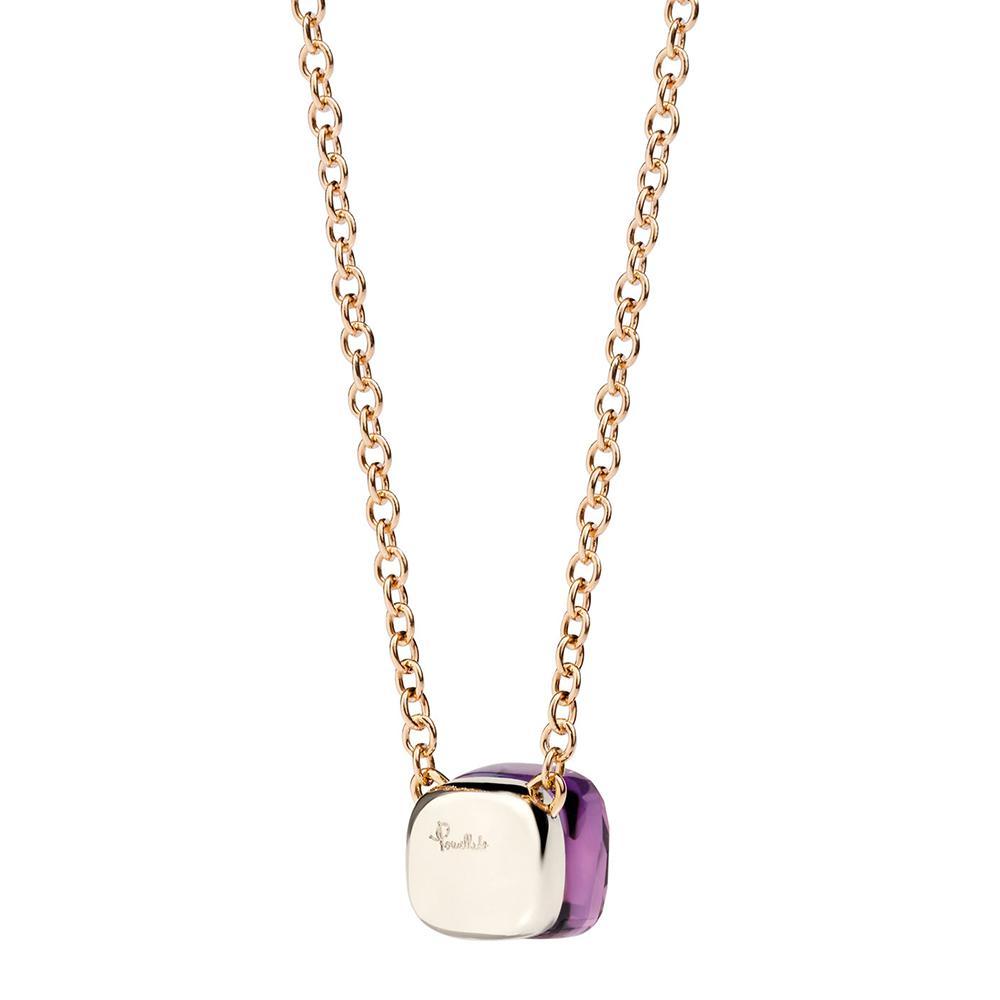 POMELLATO 18kt rose & white gold Nudo amethyst pendant necklace - Unavailable u6eaL8