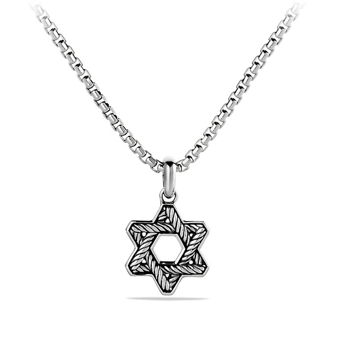 Lyst david yurman cable star of david necklace in for Star of david necklace mens jewelry