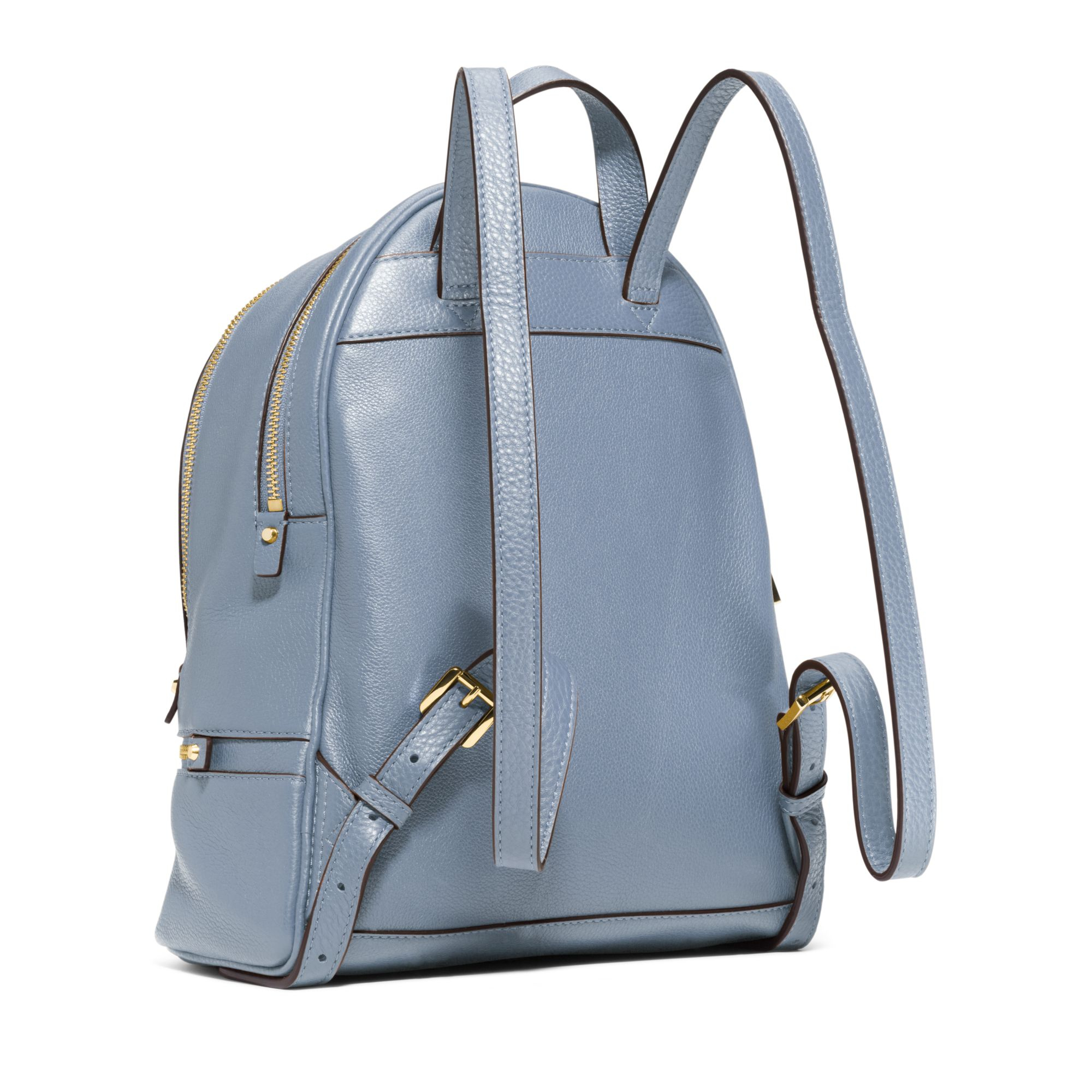 Michael kors Rhea Small Leather Backpack in Blue | Lyst