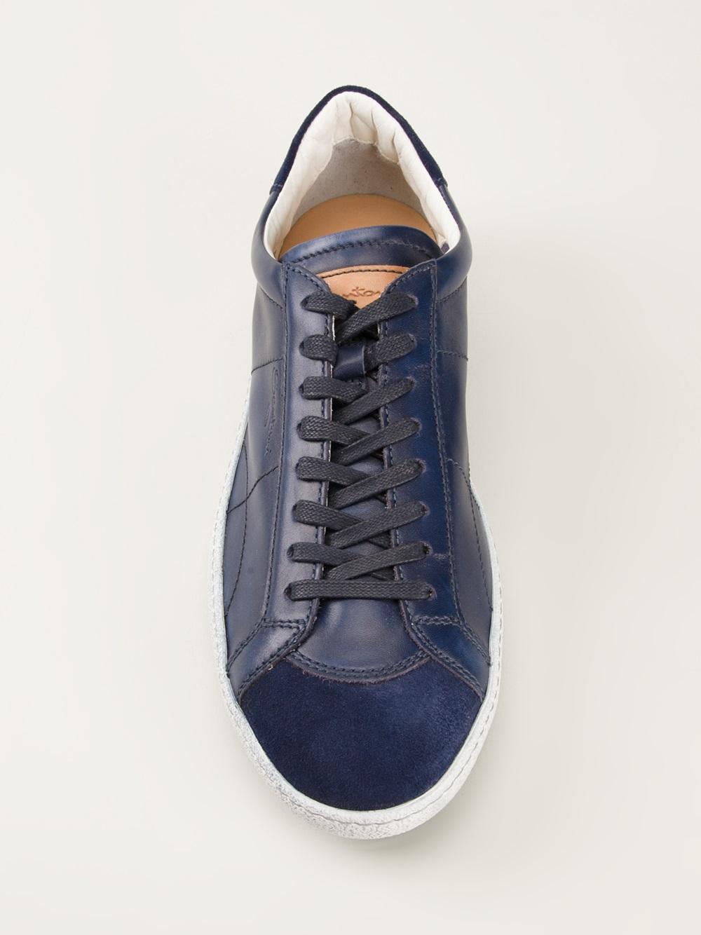 low top sneakers - Blue Santoni Fast Delivery Online JmysG1