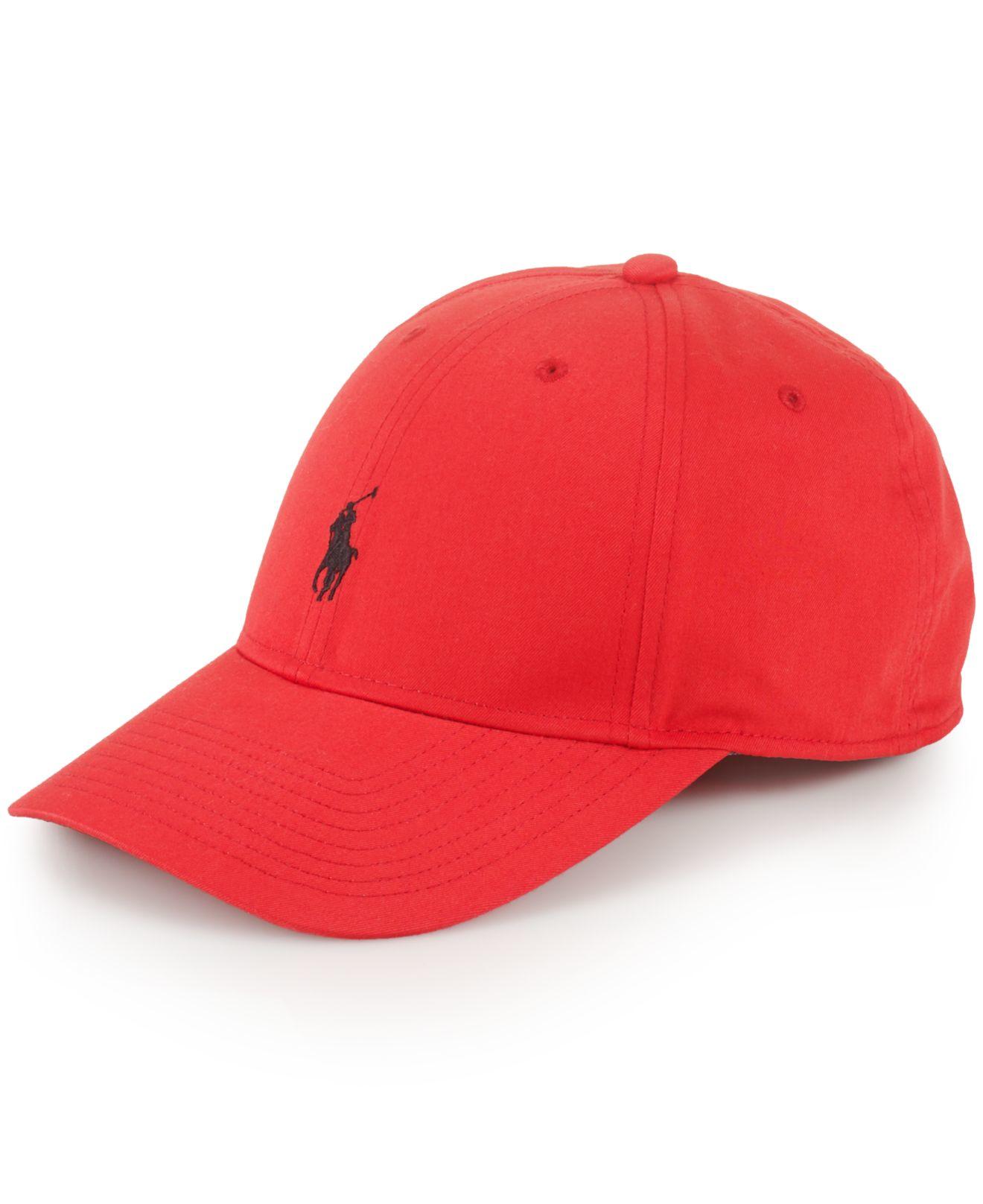 polo ralph lauren baseline hat in red for men lyst. Black Bedroom Furniture Sets. Home Design Ideas