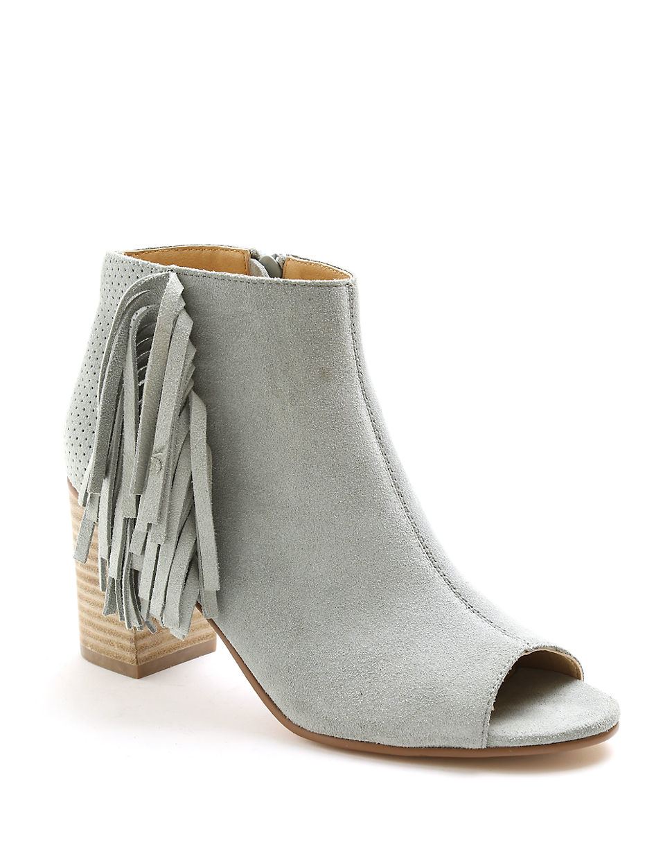 quality first durable service united kingdom Kensie Gray Erika Suede Open Toe Ankle Boots
