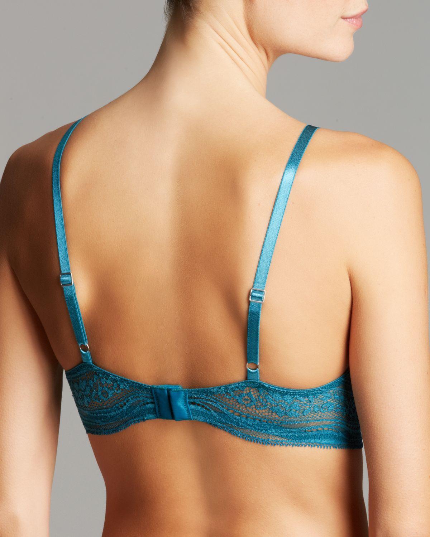 a451f32faf Calvin Klein Bra - Infinite Lace Customized Lift  F3895 in Blue - Lyst