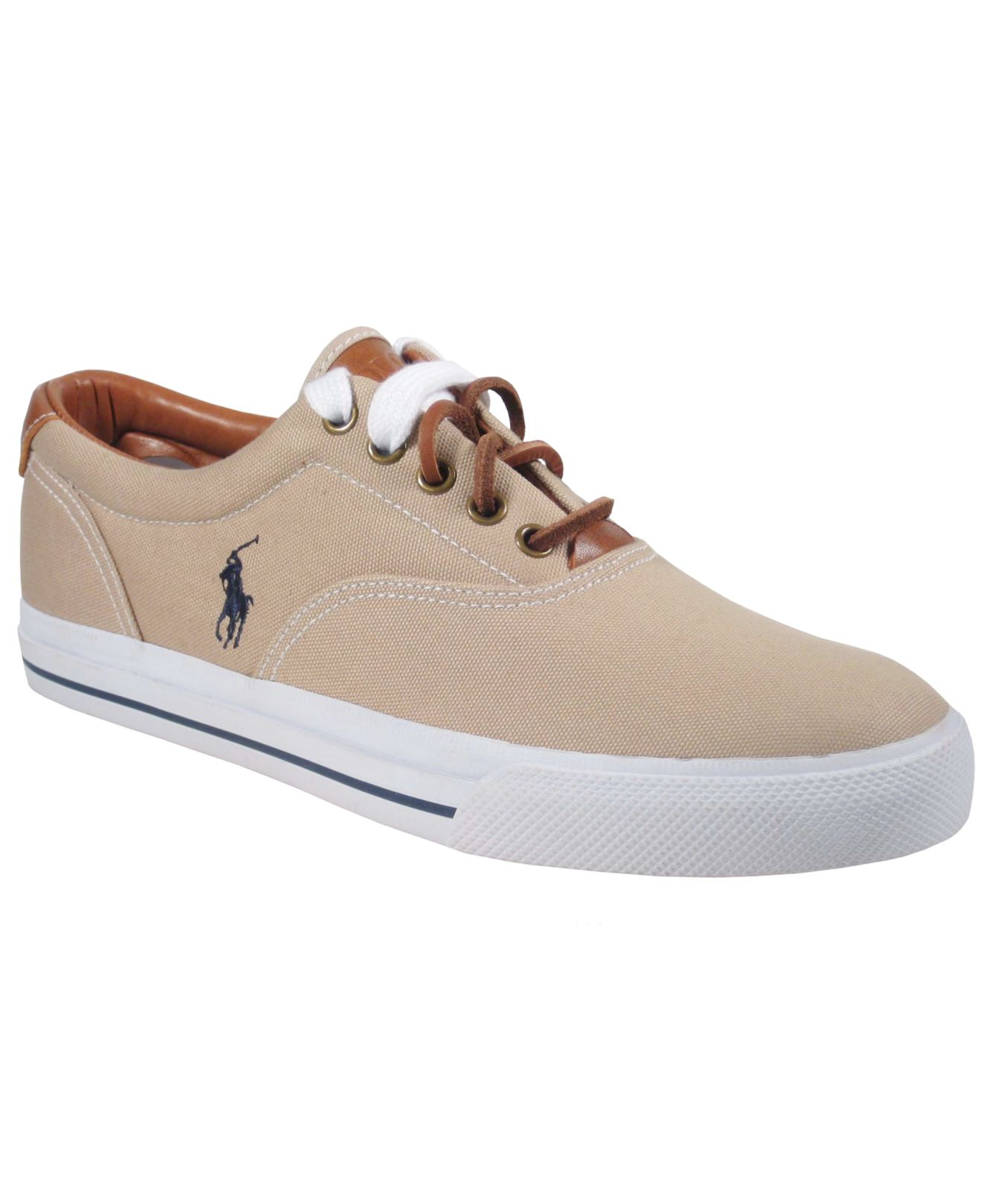 lyst polo ralph lauren vaughn canvas sneakers in natural. Black Bedroom Furniture Sets. Home Design Ideas