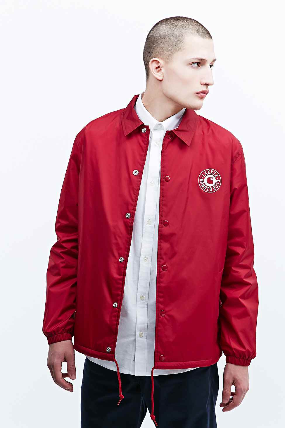 Carhartt Signum Alabama Coach Jacket In Wine In Red For