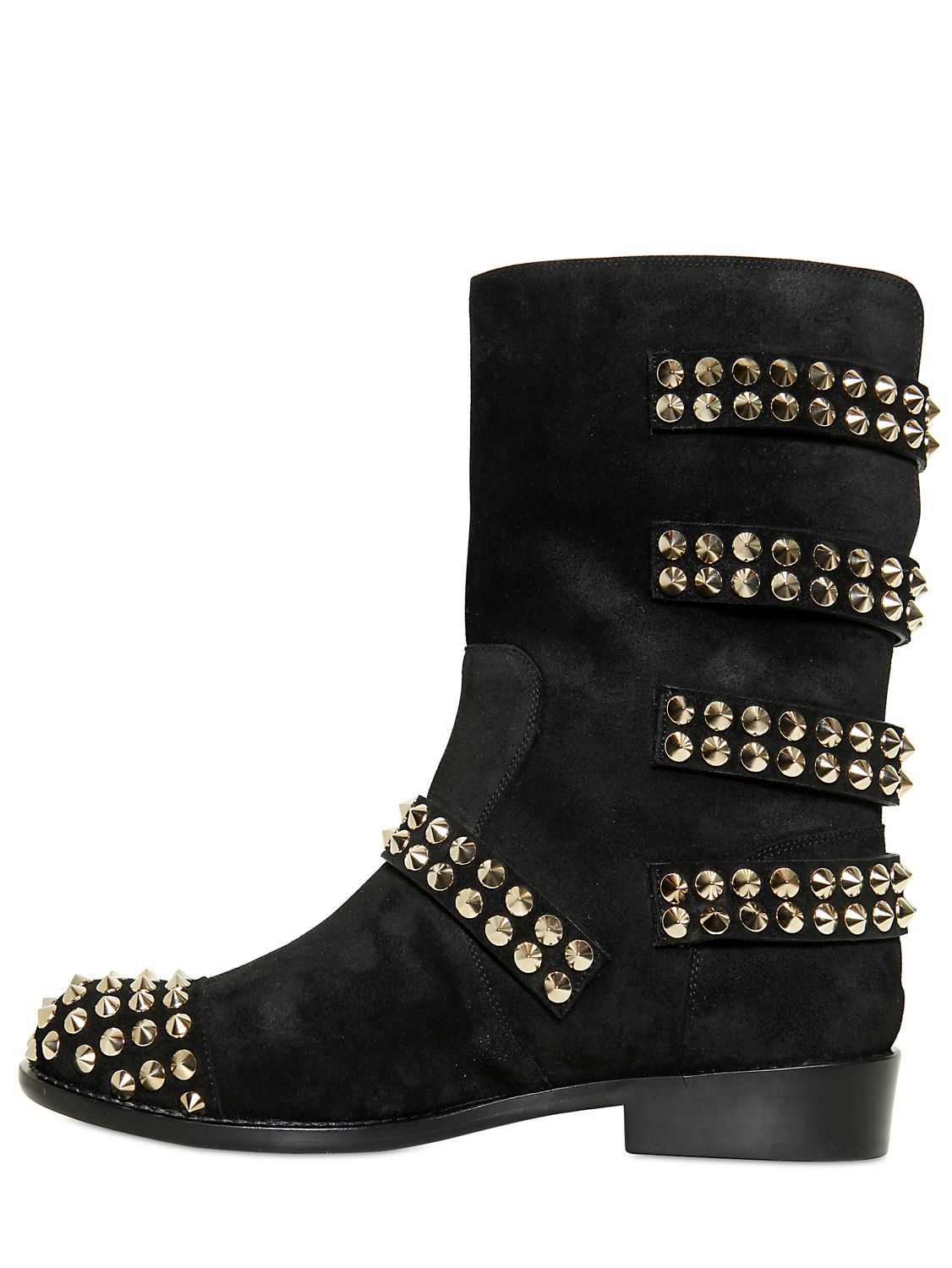Giuseppe Zanotti Suede Embellished Boots eastbay online cYjKyYa4