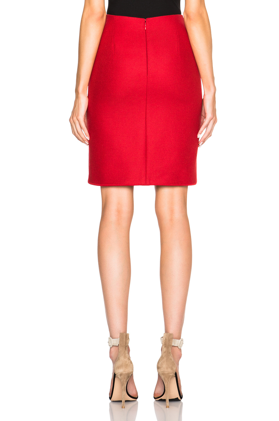 Carven Knee Length Skirt in Red | Lyst