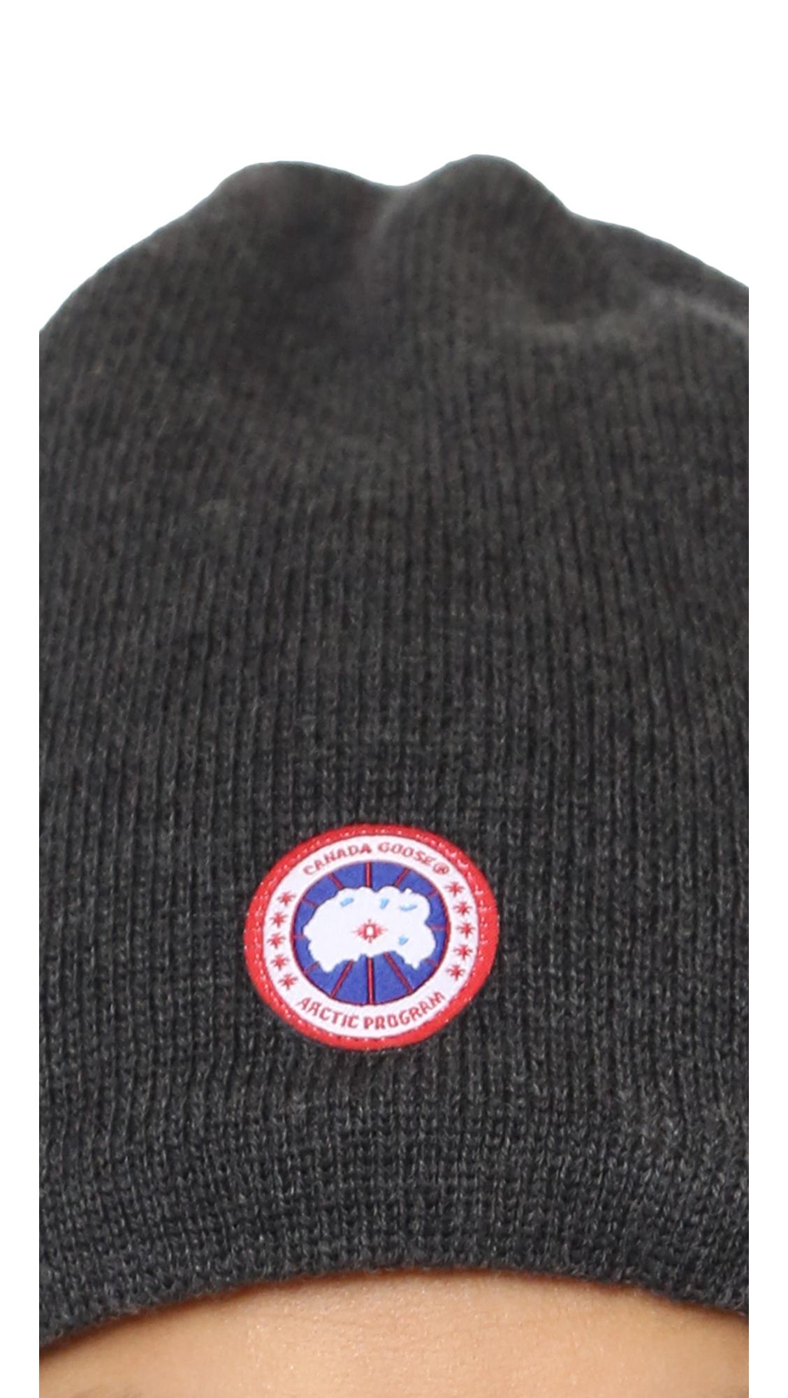 Canada Goose' Merino Wool Logo Printed Pom Hat