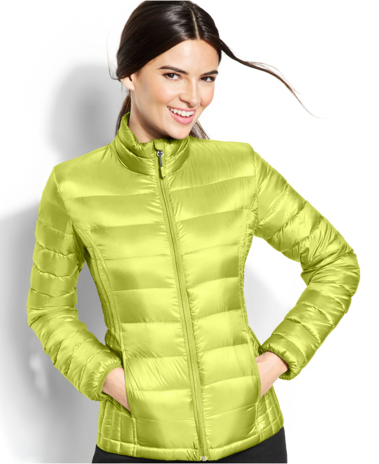 Lyst 32 Degrees Quilted Down Packable Puffer Coat In Green