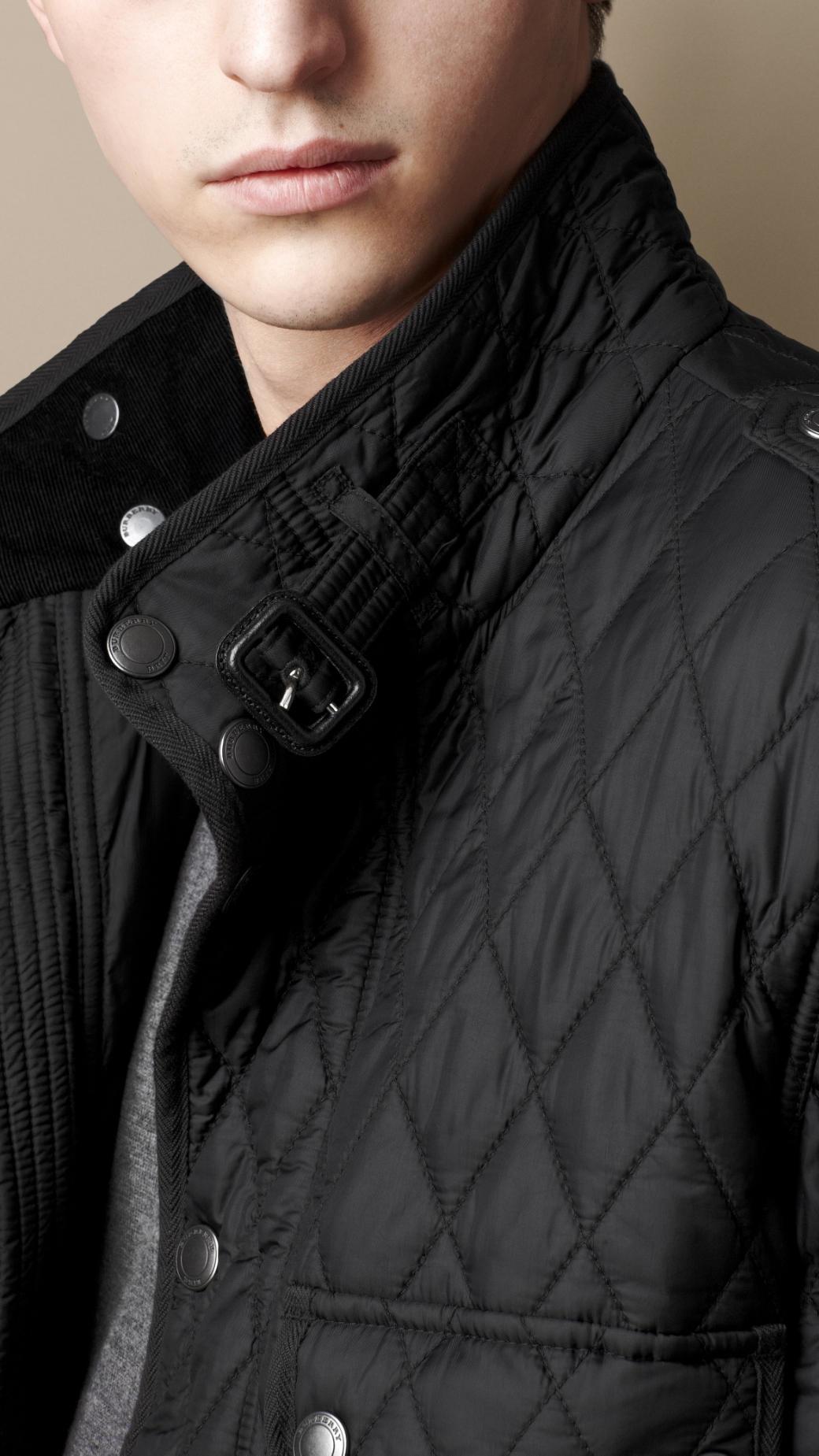 Burberry Diamond Quilted Field Jacket in Black for Men | Lyst : burberry diamond quilted jacket sale - Adamdwight.com