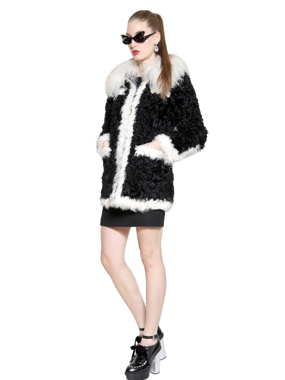 Lyst Boutique Moschino Mongolia Kalgan Faux Fur Coat In