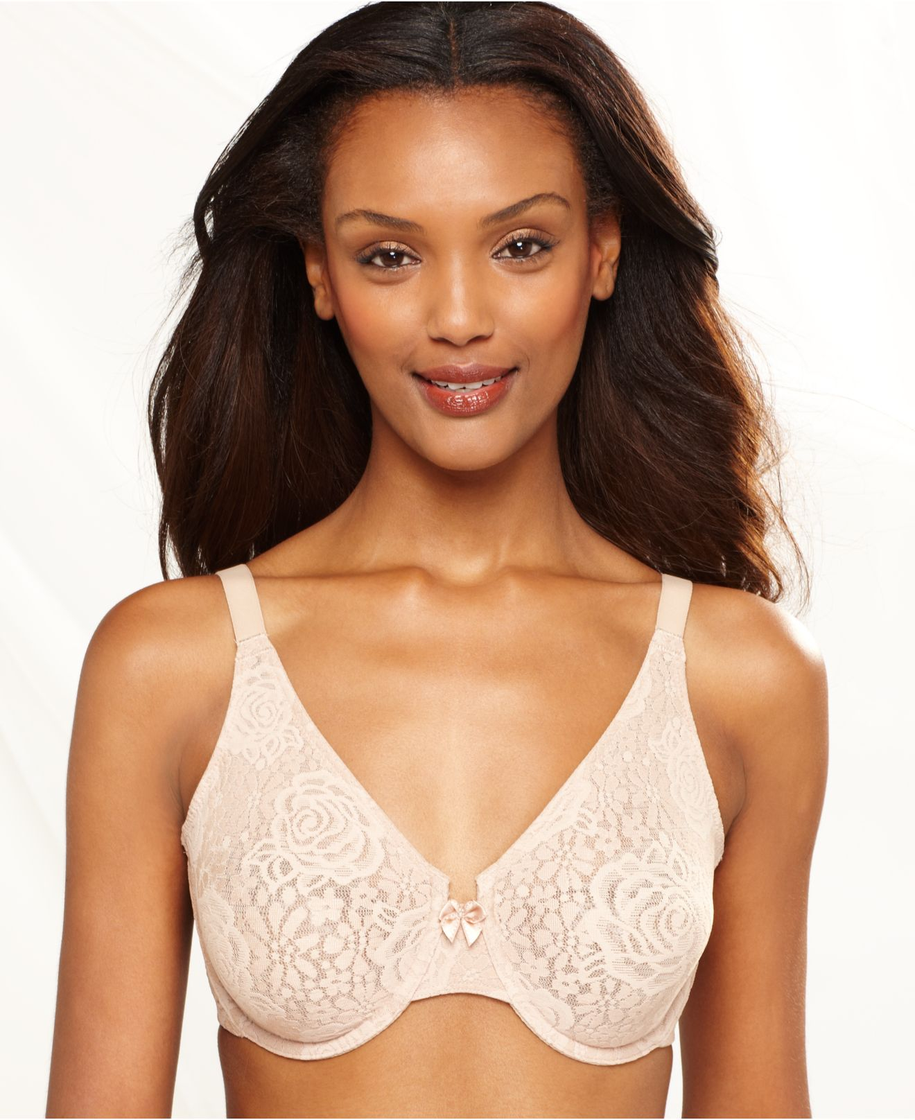 wacoal halo lace molded underwire bra 851205 in pink toast lyst