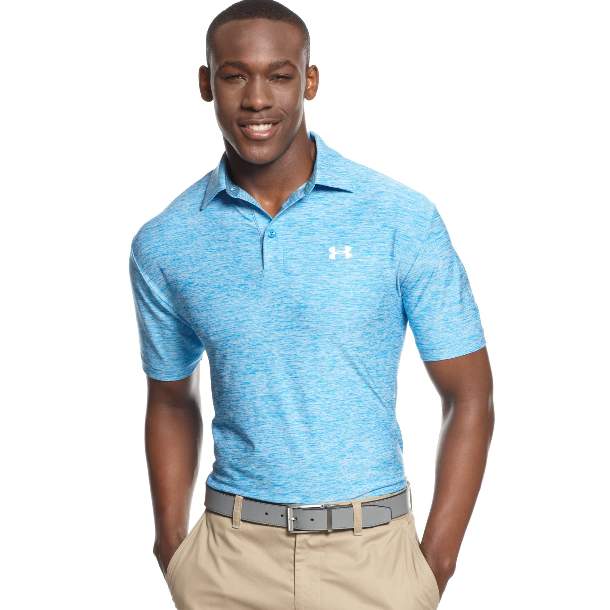 Under Armour Elevated Heather Performance Golf Polo in ...