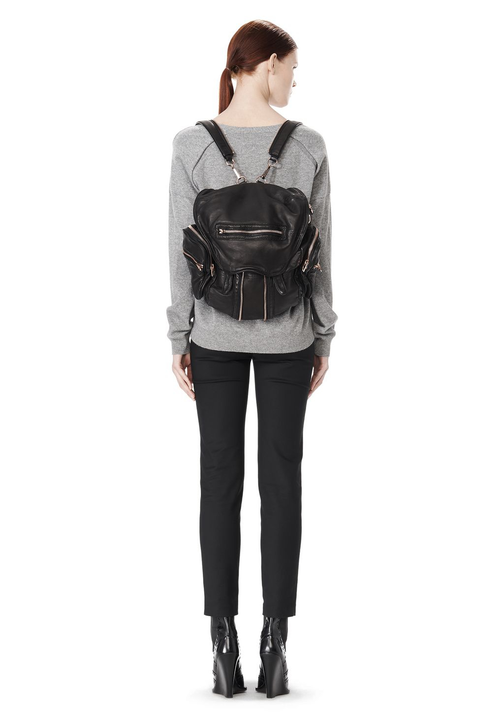 Alexander wang Mini Marti Backpack In Washed Black With Rose Gold in ...