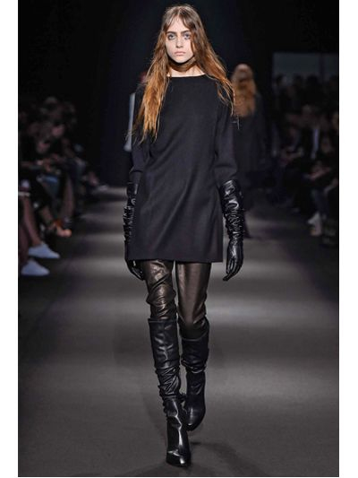 Ann demeulemeester 110mm Leather Over The Knee Boots in Black | Lyst