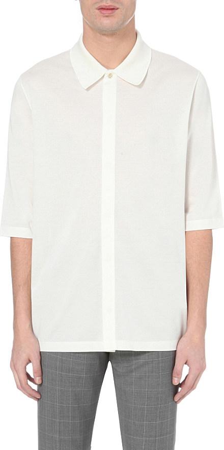 Paul smith three quarter length cotton piqu polo shirt in for Three quarter length shirt