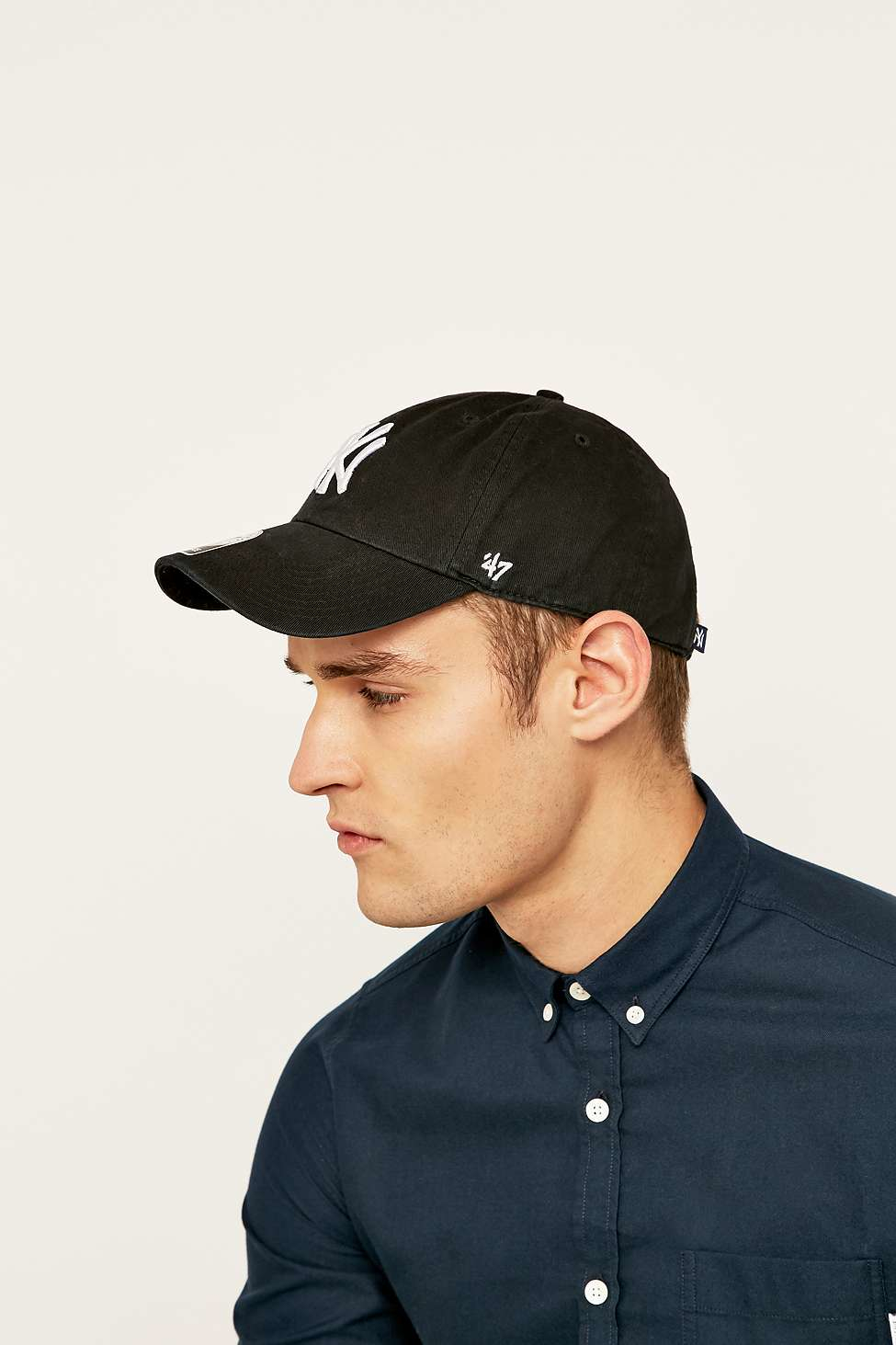 47 Brand Mlb Ny Cleanup Cap in Black for Men - Lyst db05bb47f28