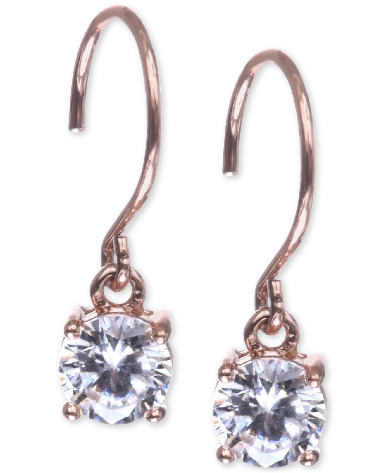 3124150f1315a Anne Klein Pink Rose Gold-tone Cubic Zirconia Drop Earrings
