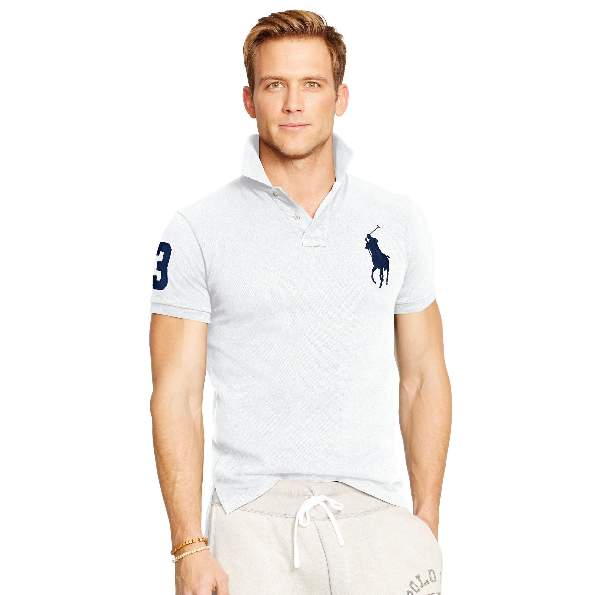 Polo ralph lauren Custom-fit Big Pony Polo in White for ...