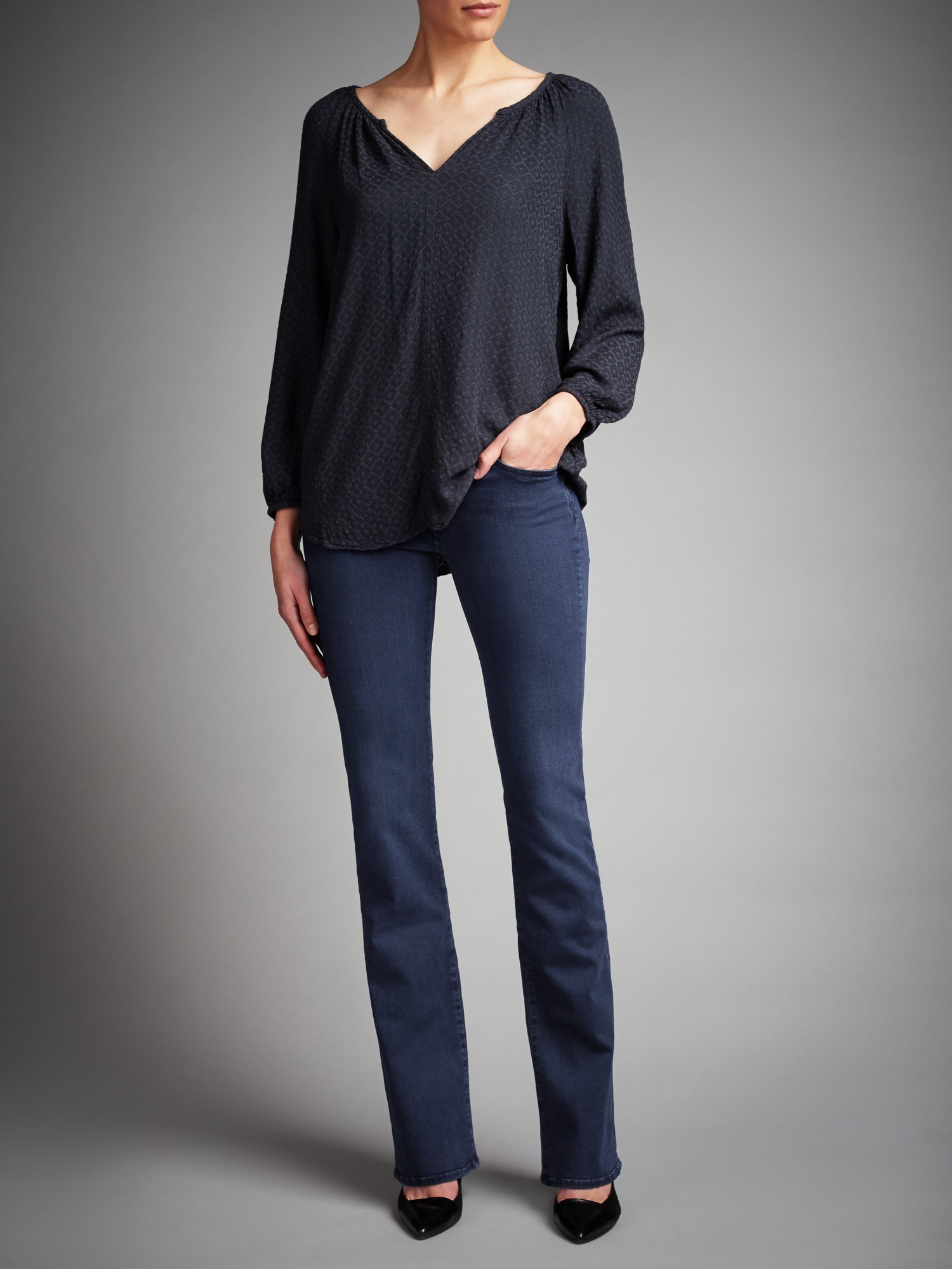 7 For All Mankind Denim Skinny Bootcut Jeans in Blue