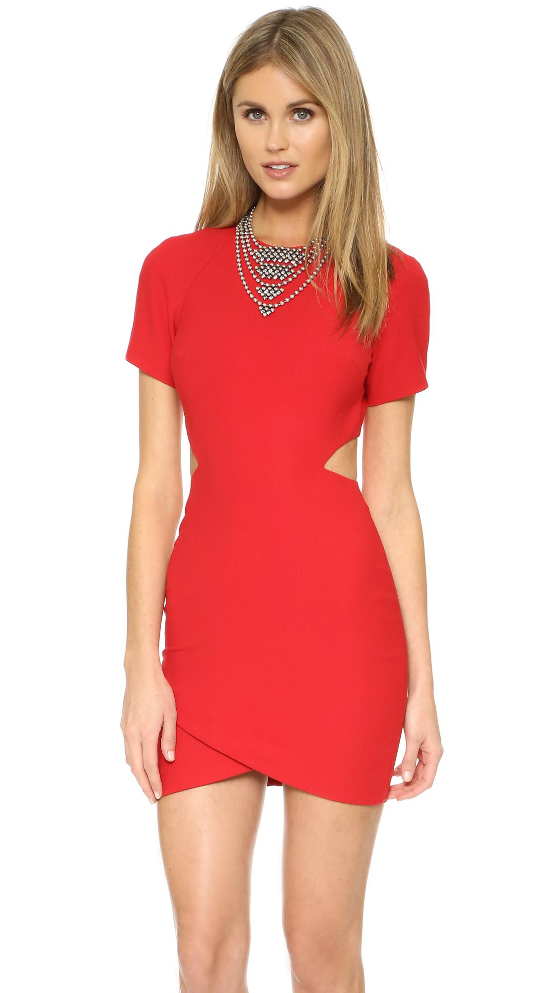 lyst elizabeth and james skylyn dress in red. Black Bedroom Furniture Sets. Home Design Ideas