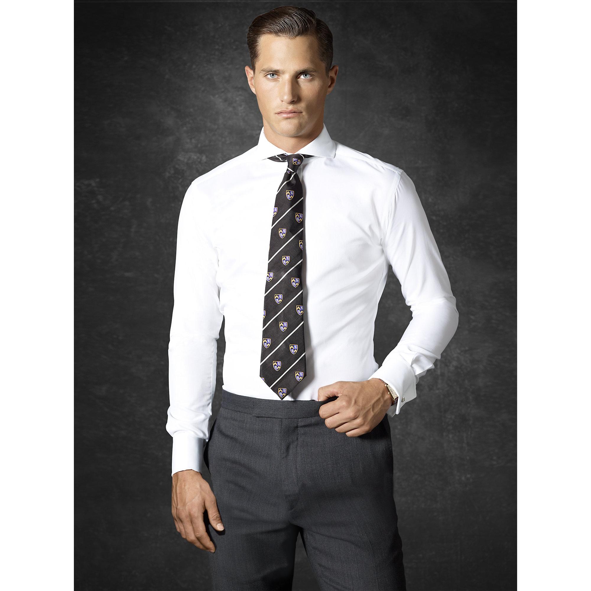 9cbf449070 ... coupon lyst ralph lauren purple label keaton twill shirt in white for  men 830f6 45f62