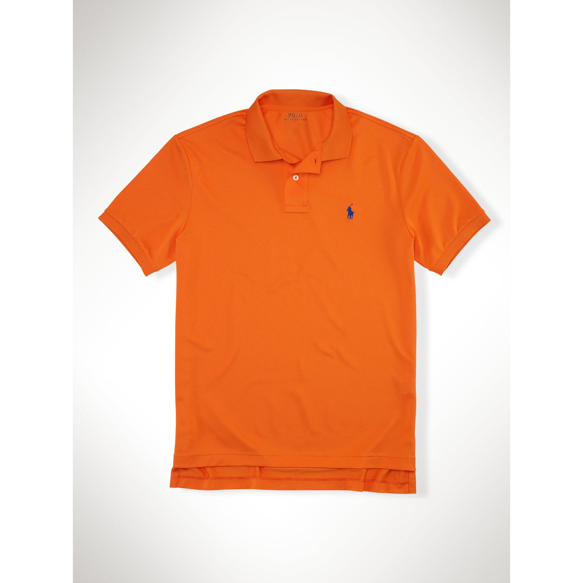 Polo Ralph Lauren Performance Mesh Polo Shirt In Orange