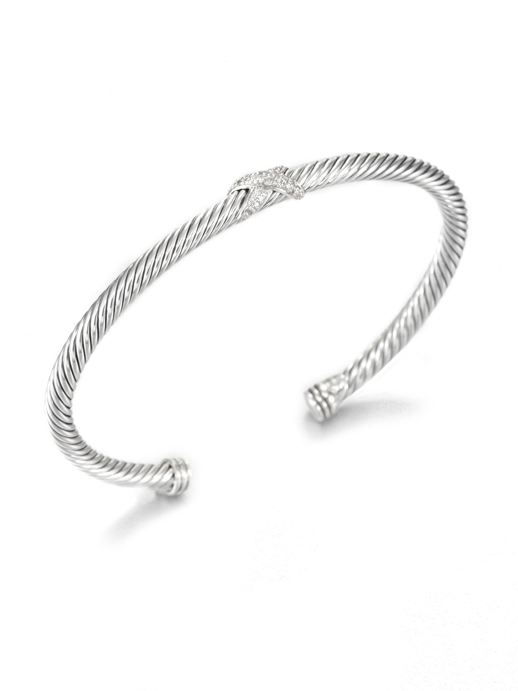David Yurman Paveacute Diamond Sterling Silver Cuff