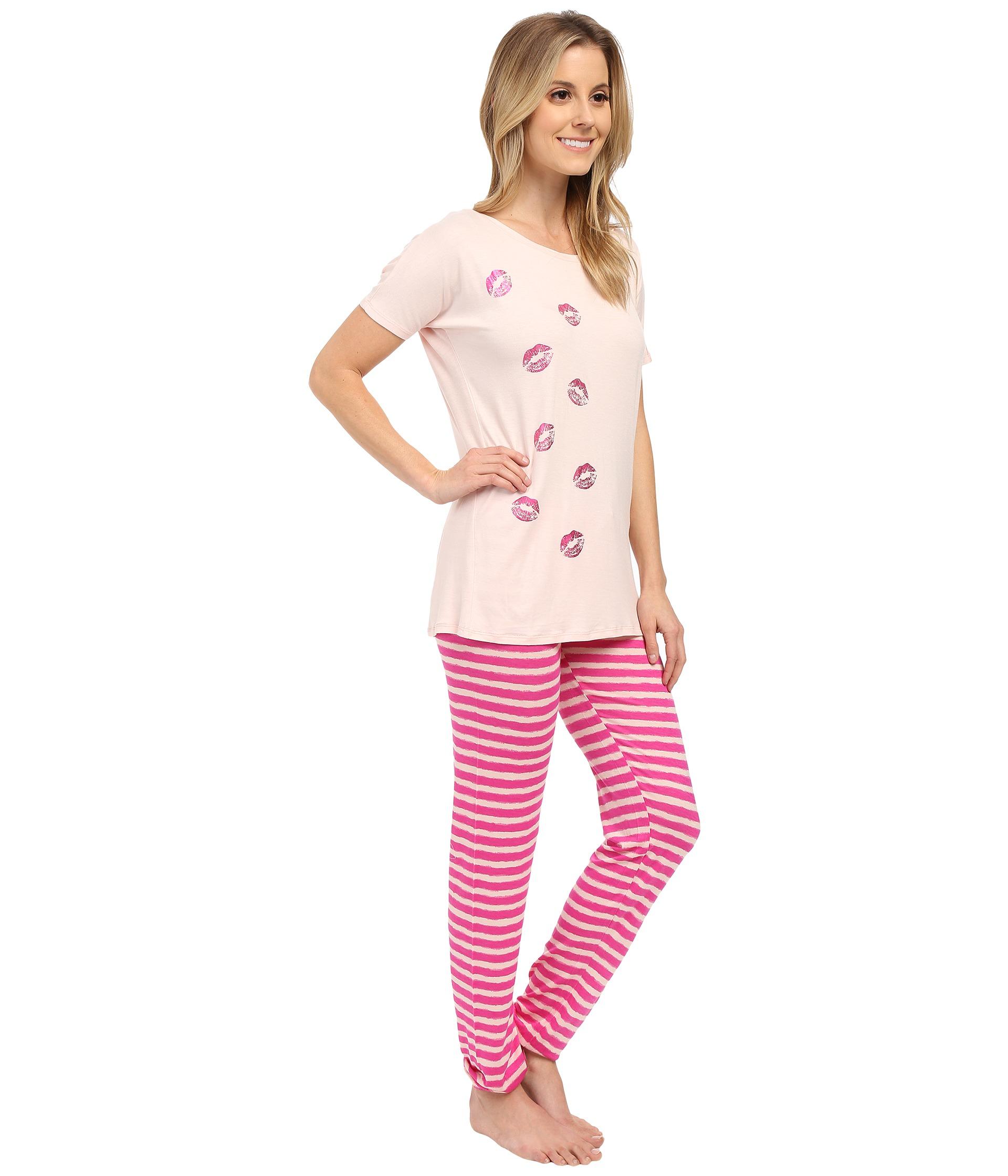 Betsey Johnson Pink Rayon Knit Pajama
