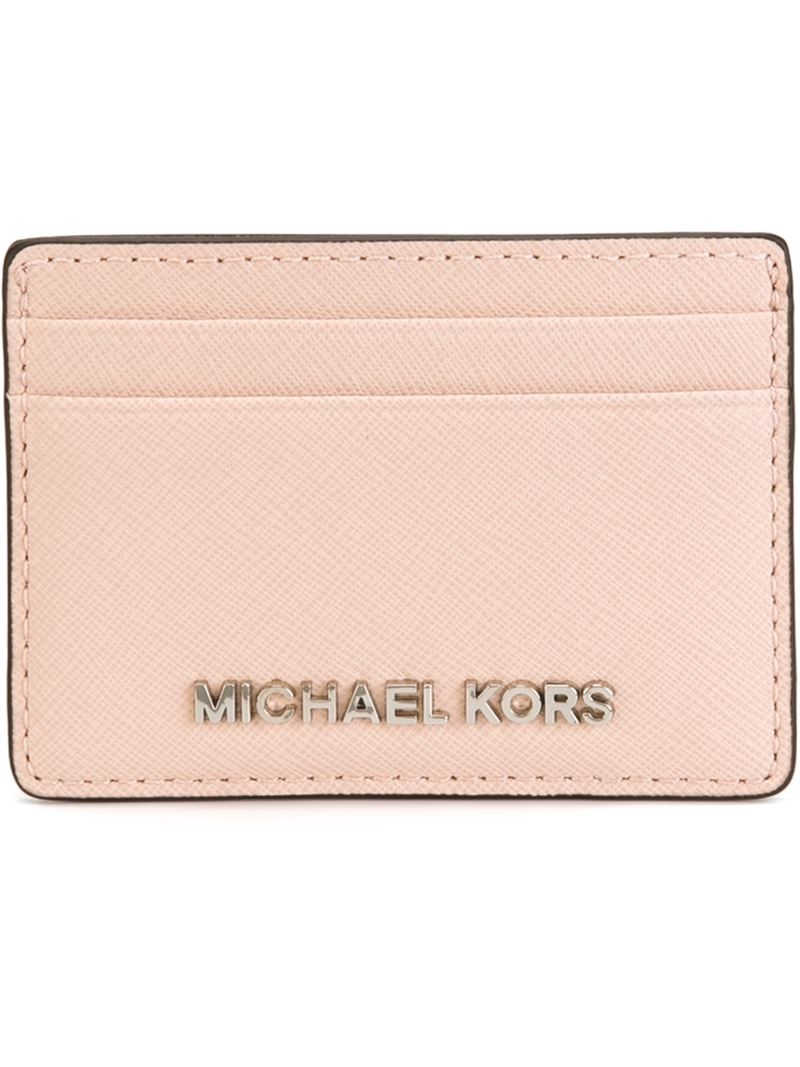 d828c1930181 MICHAEL Michael Kors  jet Set Travel  Cardholder in Pink - Lyst