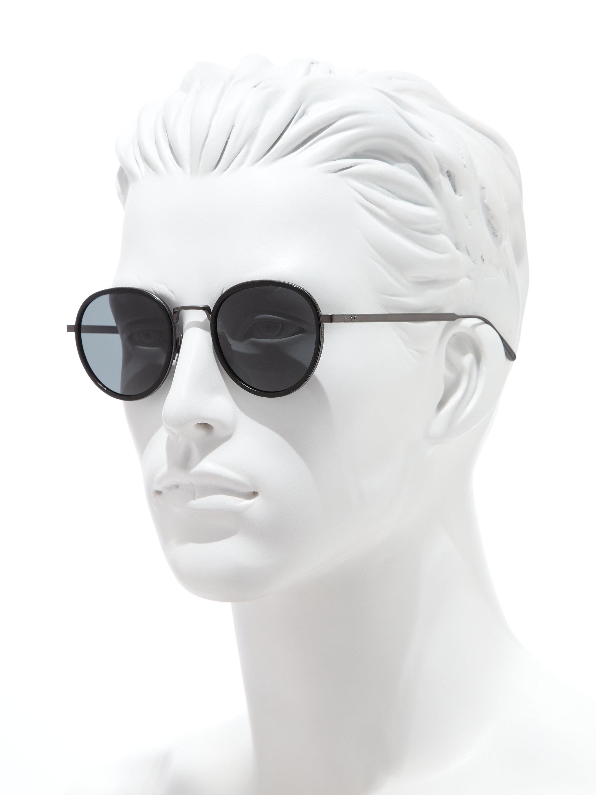 2d320dc03 Bottega Veneta 49mm Round Titanium & Acetate Sunglasses in Gray for ...